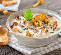 Biały krem z kurkami - sezonowa zupa