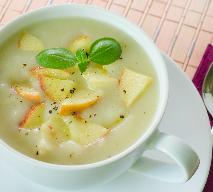Kremowa zupa jabłkowa z rokitnikiem