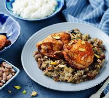 Pikantny kurczak na ryżu z bakłażanem i daktylami: obłędnie pyszny przepis kuchni marokańskiej