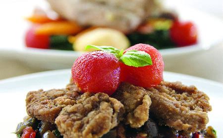 Smażona grasica na caponacie: przepis na danie kuchni włoskiej